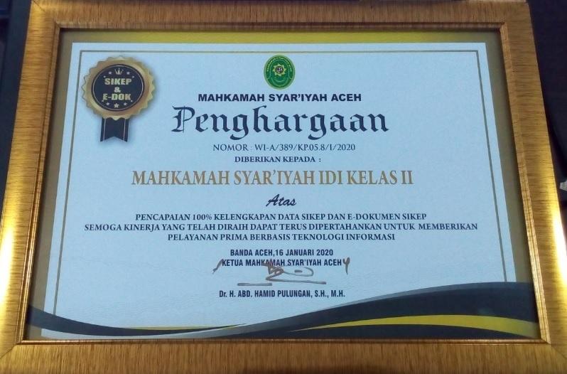 Kepegawaian MS Idi Rih Penghargaan Dalam Pengelolaan Sikep | (17/2)